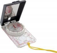 Brujula de orientacion con espejo - Brújula de orientación. Espejo con escalas laterales, corona rotativa y cápsula fluorescente.   Medidas: 9x6x3,5 mm.
