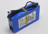 Bateria recargable Li-Ion 12V 9000mAh larga duracion con cargador - Ideales para alimentar sondas de pesca en Kayaks y pequeñas embarcaciones. (No se puede mojar).   Bateria recargable de 12V de Li-Ion de 9000mAh. Viene con cargador, la bateria mide unos 125x65x25mm y pesa unos 390gr, dispone de interruptor de encendido/apagado y led de actividad para saber cuando esta en funcionamiento.