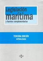 Legislación Marítima y Fuentes Complementarias - Ignacio Arroyo Marttínez - Edición Española 2009.   872 páginas.   17 x 24 cm.   Encuadernación: Tapa dura / Cartoné