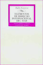 Elementos de Derecho Internacional del Mar - Tullio Scovazzi - Edición Española 1995.   220 páginas.   17 x 24 cm.   Encuadernación: Rústica