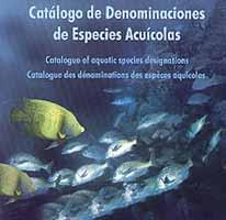 Catalogo de Denominaciones especies Acuícolas Cd-rom - Catálogo multimedia de todas las especies marinas españolas.