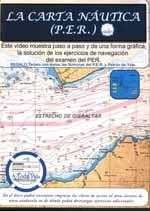 La carta nautica (P.E.R.) - DVD - Este vídeo de 75 minutos de duración, muestra paso a paso todos los ejercicios tipo de la carta náutica del examen de Patrón de Embarcaciones de Recreo (PER)...