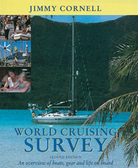 World Cruising Survey - Jimmy Cornell - An Overview of Boats, Gear and Life on Board.   Edición Inglesa 2002.   160 páginas .   Encuadernación: Tapa dura