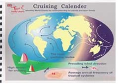 Cruising Calender - Paul Kinzelmann y Mary Synge - Monthly world charter for route - planning for yacht and sport boats..   Edición Inglesa 2005.   27 páginas .   Encuadernación: Rústica
