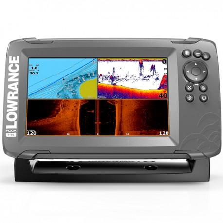 Lowrance HOOK² 7x con transductor TripleShot y plotter GPS