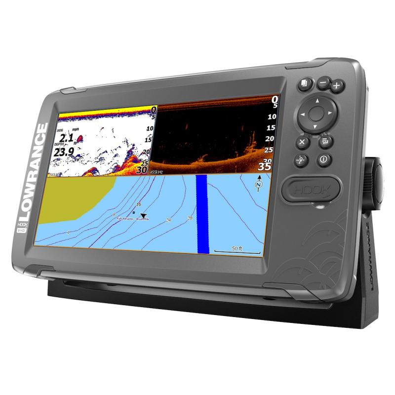 Lowrance HOOK² 9 con transductor SplitShot y mapa base