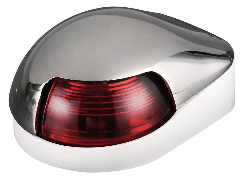 Luz de cubierta Babor Osculati, 112.5 ° Roja, Inox AISI 316  - Luces de navegación 12 Voltios, para embarcaciones de eslora inferior a 12 m.   Alcance 2 millas..   Potencia : 8 W.