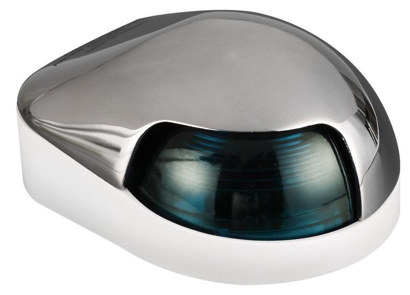 Luz de cubierta Estribor Osculati, 112.5 ° Verde, Inox AISI 316  - Luces de navegación 12 Voltios, para embarcaciones de eslora inferior a 12 m.   Alcance 2 millas..   Potencia : 8 W.