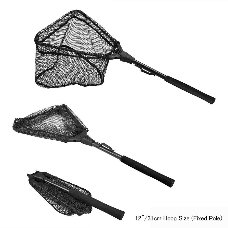 Sacadora de pesca Plegable Attwood Fold-N-Stow - Salabre de pesca plegable y extensible