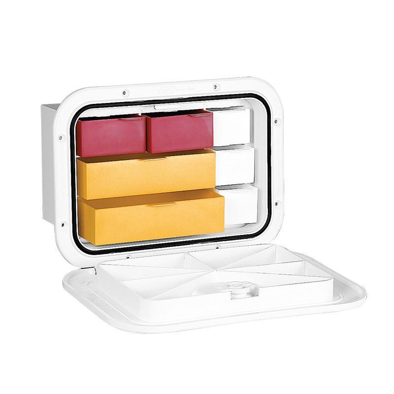Registro Top Line Nuova Rade 270x375 mm, con Cajones - Registro de almacenaje con cofre y cajones.   Diseñados para guardar objetos..   Resistente a los UV