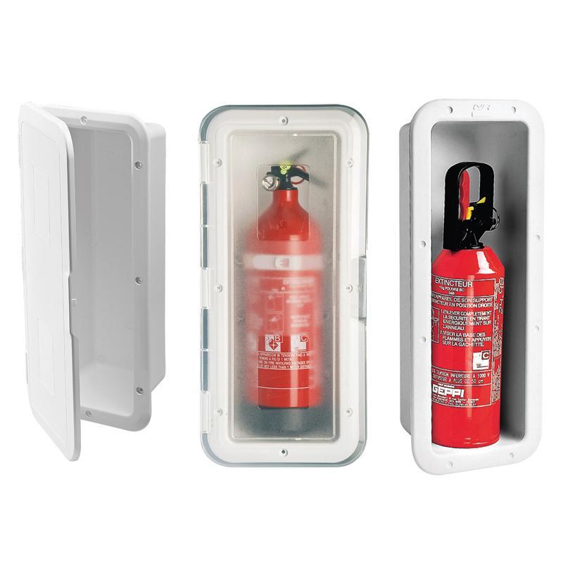 Caja de Estiba para Extintor - Permite la estiba y acceso fácil al extintor. UV- resistente ASA.