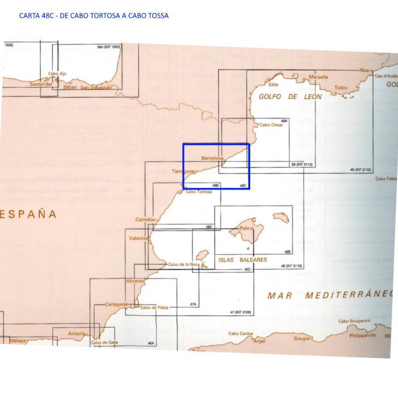 Carta del IHM 48C De Cabo Tortosa a Cabo Tossa