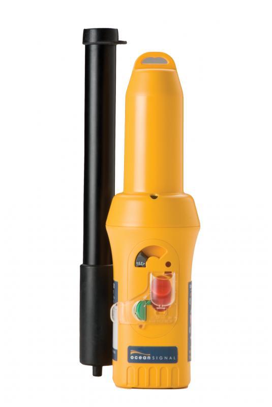 Transpondedor Ocean Signal S100 - Transpondedor de tamaño muy compacto ideal para Balsas Salvavidas. Incluye  poste telescópico y soporte de montaje.