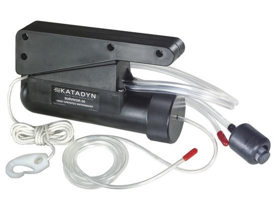 Katadyn Survivor 06 - El desalinizador de emergencia manual más pequeño del mundo.Recomendado para balsas salvavidas de emergencia y kits de supervivencia individuales.