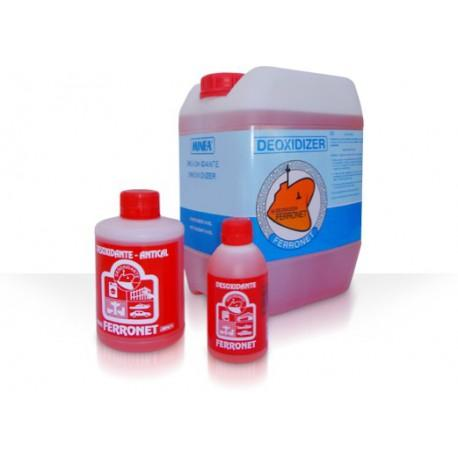Desoxidante AntiCal  Minea Ferronet - Desincrustante líquido de carácter ácido, de elevado poder desoxidante, desengrasante y descalcificante.