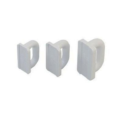 Patin Nylon Blanco Mastil para Carril - Garruchosparavelas. De nylon blanco,  Paracarrilde 16, 19 o 22 mm