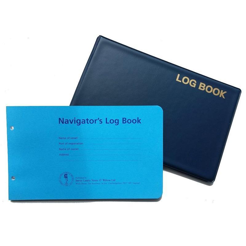 Cuaderno de Bitacora - Navigators Log Book - 50 páginas de hojas sueltas en una cubierta resistente de PVC color azul, con anillas, para facilitar el relleno.
