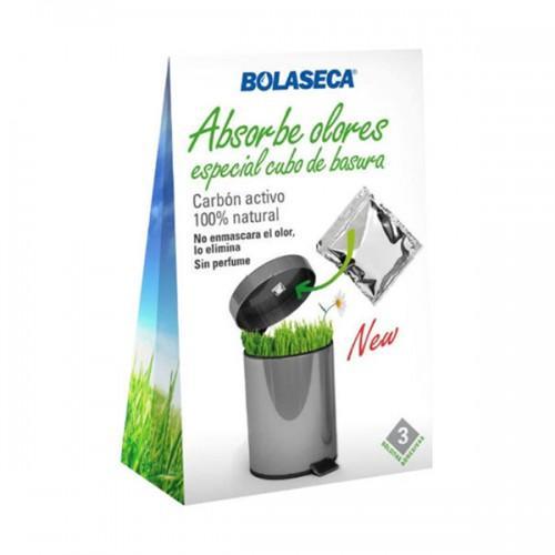Absorbeolores Bolaseca Especial Cubo de Basura - El carbón activo es capaz de atraer y eliminar las moleculas causantes del indeseado mal olor en la basura.