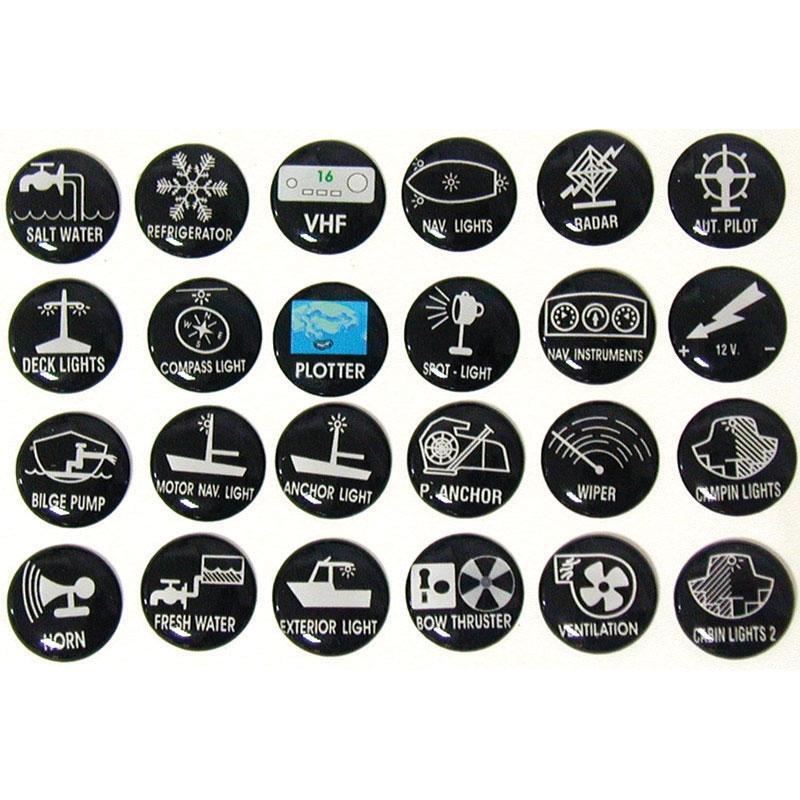 Etiquetas Auto-Adhesivas para Paneles de Control SP - Juego 24 unds.