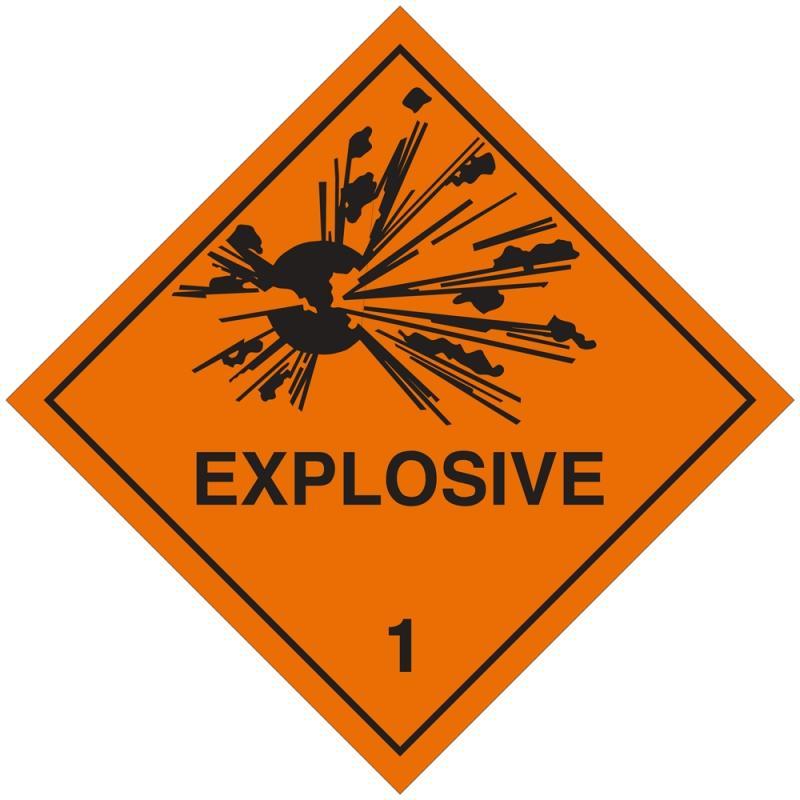 Etiqueta de Señalización IMDG Clase 1: Explosive
