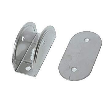Anclaje con Pin para Escalera o Plataforma de Baño, Diam 25mm - Horquilla Inox para base soporte de escalera o plataforma de baño. Para tubo de 25 mm de diámetro.   Precio por unidad. Aquiriendo adicionalmente la placa de fijación para escalera (ver productos relacionados), permite poner y quitar la escalara con facilidad.