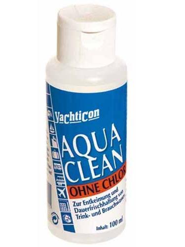 Aqua Clean Yachticon sin Cloro Líquido - Sin Cloro Líquido Conserva el agua potable hasta 6 meses. Mantiene el agua fresca y con buen sabor. Botella 100ml. Líquido para 1000lt. de agua.