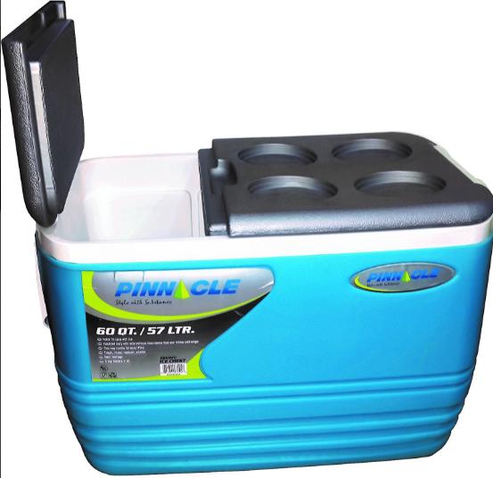 Nevera portátil Alta calidad Pinnacle 57 Litros Color Azul tipo Arcon - Grosor Térmico de 3,3 CM.. Medidas Exteriores aprox: L 62  x  An 40 x Al 42 cm