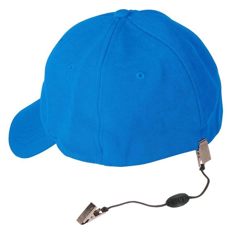 Pinza de Seguridad para Gorra - Pinza para sujetar la gorra o sombrero al cuello de la camiseta, chaqueta o polo..   Ideal para la navegación o días de viento..   Cordón trenzado ligero..   Clips metálicos, ligeros y tratados contra la oxidación.