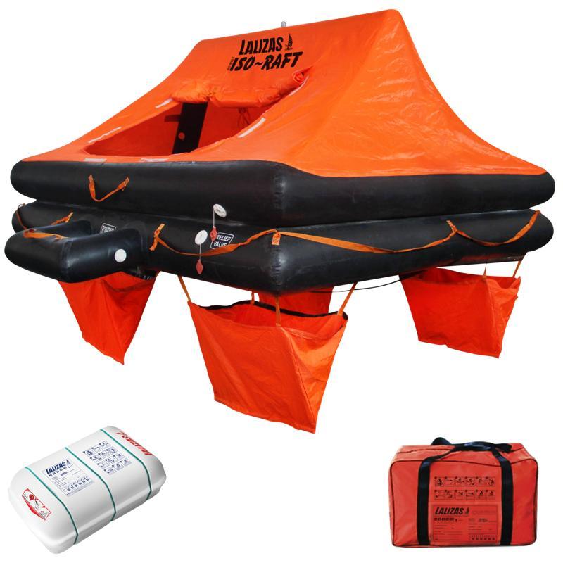 Balsa Salvavidas ISO-RAFT CE ISO 9650-1 - Disponible con capacidad para 4, 6, 8, 10 o 12 personas, diseñadas para ser muy seguras y dar seguridad en zonas donde no se encuentran en condiciones extremas de altamar.