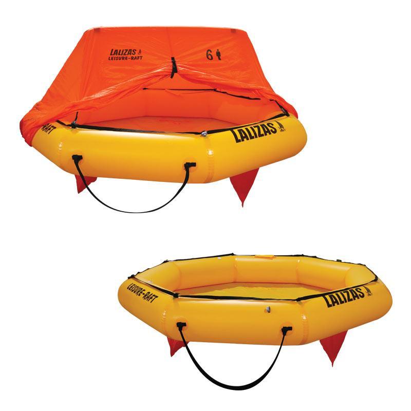 Balsa Salvavidas LALIZAS Leisure-Raft - Ideal para la navegación costera. La Leisure-Raft es ideal para aquellos que no necesitan una balsa salvavidas con todas las funciones. Ofreciendo a quienes viajan, la balsa salvavidas más pequeña, ligera y económica del mercado. La Leisure-Raft con su peso ligero permite un fácil despliegue y el tamaño compacto facilita el almacenamiento en los espacios más pequeños.