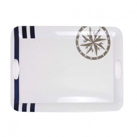 Bandeja Topoplastic Marina  - Bandeja de melamina de alta calidad, muy resistente.  Dimensiones: 50 x 37,5 cm. Garantía de lavavajillas.