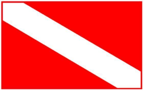 Buceador individual. Bandera de Buceo