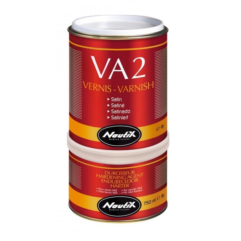 Barniz dos componentes Nautix VA2  - Nautix VA2 es un barniz en poliuretano de alta gama particularmente adaptado para resistir a las condiciones marítimas. Superficies : gelcoat / poliéster / contrachapado marino / metal / carbono