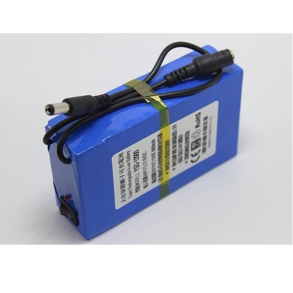 Bateria recargable Li-Ion 12V 9000mAh larga duracion con cargador