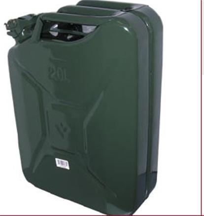 Deposito de Combustible Metálico Homologado - Depósitos de Combustible Homologados con diversas capacidades: 5,10,20 Litros