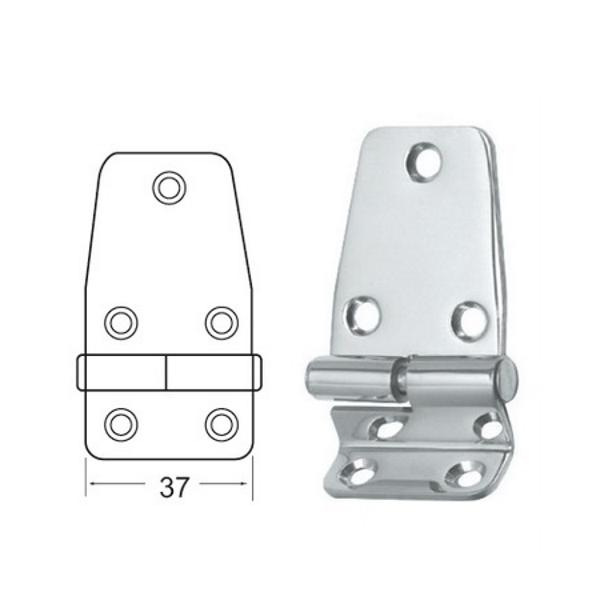 Bisagra Angular Inox 65,5x37mm