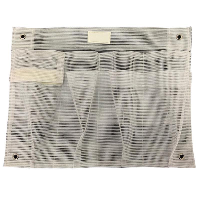 Bolsa de almacenamiento de Rejilla color blanco 390 x 300 mm con compartimentos