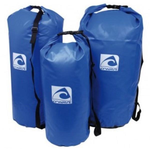 Saco estanco reforzado O'Wave - Sacos estancos de tela de PVC flexible y muy resistente. Cierre con clip y bandolera regulable para colgar del hombro. Capacidad 25, 50 o 70 Litros.