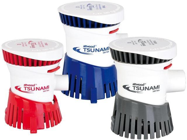 Bomba de Achique Attwood Tsunami T500 / T800 / T1200 GPH - Con su ingeniería innovadora y diseño compacto, las bombas Tsunami ofrecen un alto rendimiento desde el modelo mas pequeño.