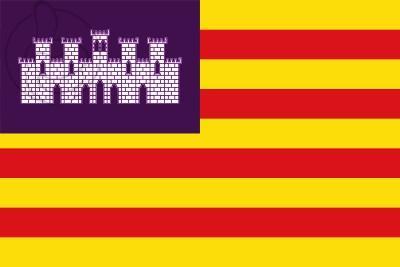 Bandera Islas Baleares - Bandera autonómica de las Islas Baleares