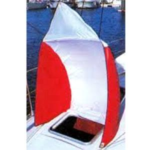 Aireador Textil de Cubierta (Fantasma) - Manguerote vela (Fantasma). De diseño aerodinámico, el manguerote de ventilación, recoge la más mínima brisa hacia el interior de la cámara, manteniéndola fresca y confortable.