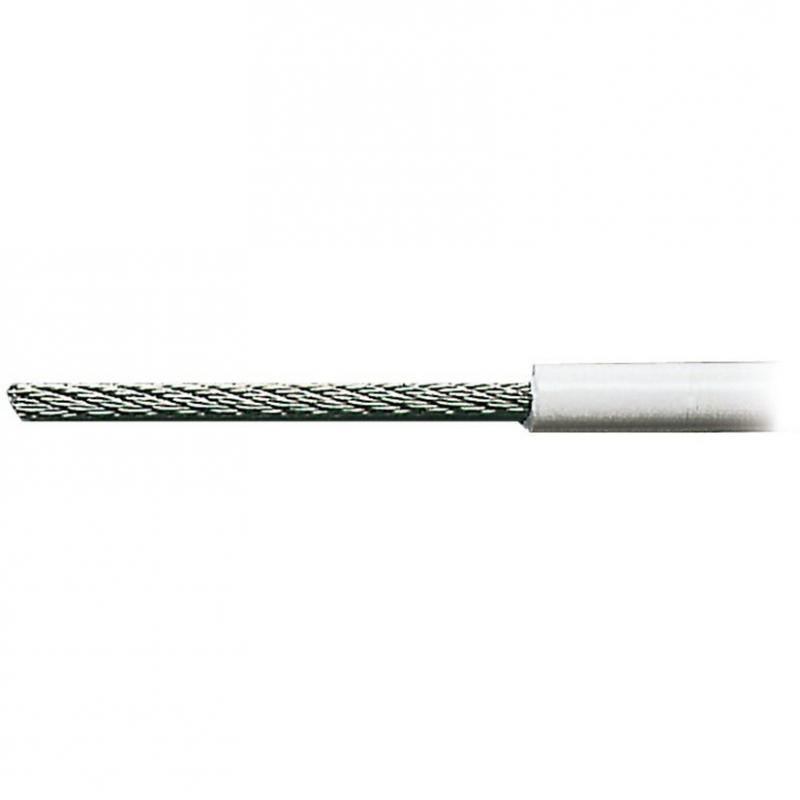 Cable Acero Inoxidable AISI 316, Semi Flexible 7 x 7 + 0 , Forrado de PVC