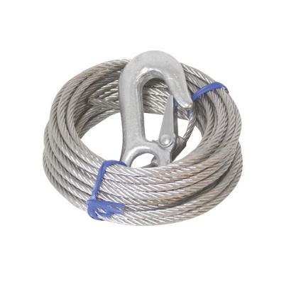 Cable de Winch con gancho 6m - Carga: 1700 kgs.   Largo: 6m / 20ft.   Diametro: 5 mm