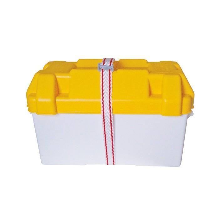 Caja para baterias Medida: 410x200x200mm - De polietileno de alta resistencia. Protege eficazmente las baterías de la humedad y la corrosión. Medida: 410x200x200mm