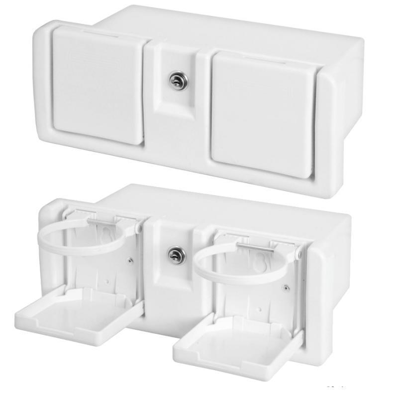 Caja con porta-vasos y cerradura