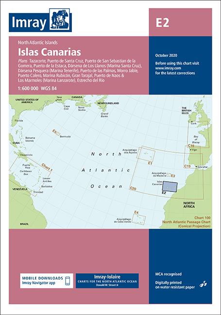 Carta Náutica Imaray E2 Islas Canarias