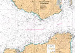 Carta del IHM 445 Estrecho de Gibraltar. De punta Camarinal a punta Europa y de cabo Espartel a punt