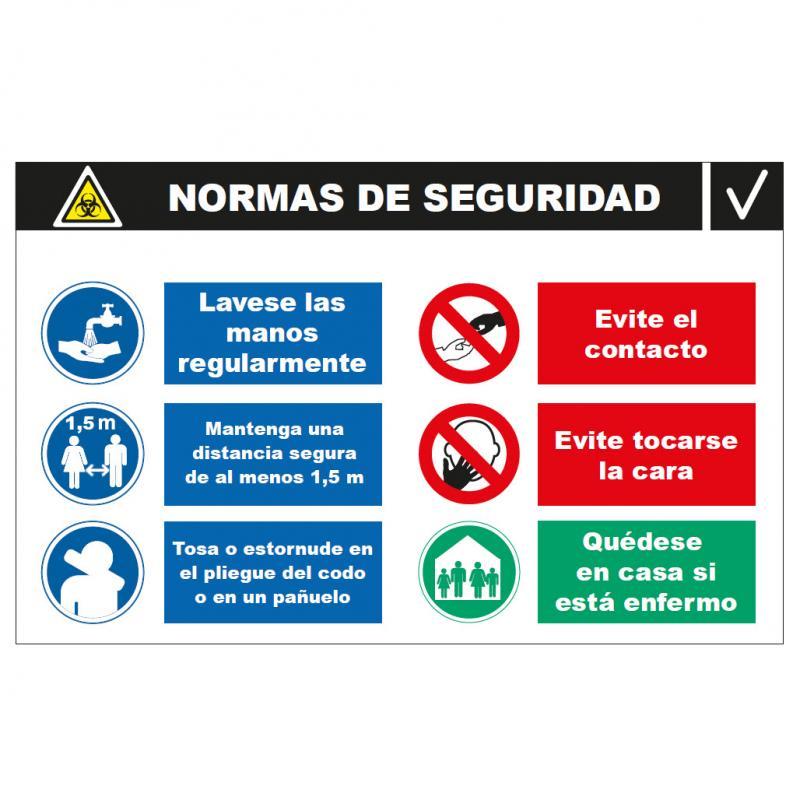 Panel Glasspack - Normas de Seguridad  Básicas a seguir COVID-19