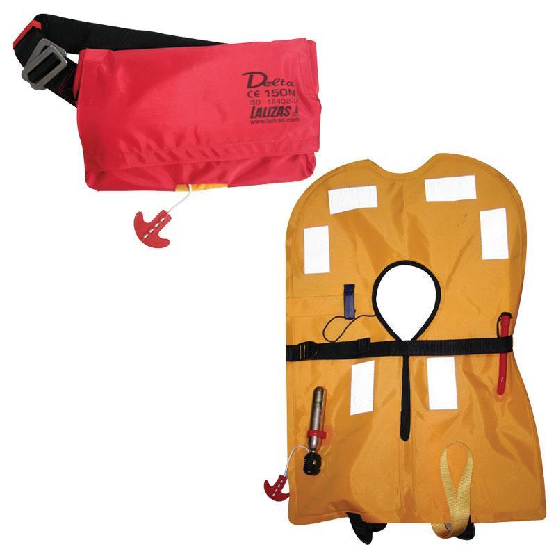 Chaleco Salvavidas Hinchable Delta 150N, CE ISO 12402-3