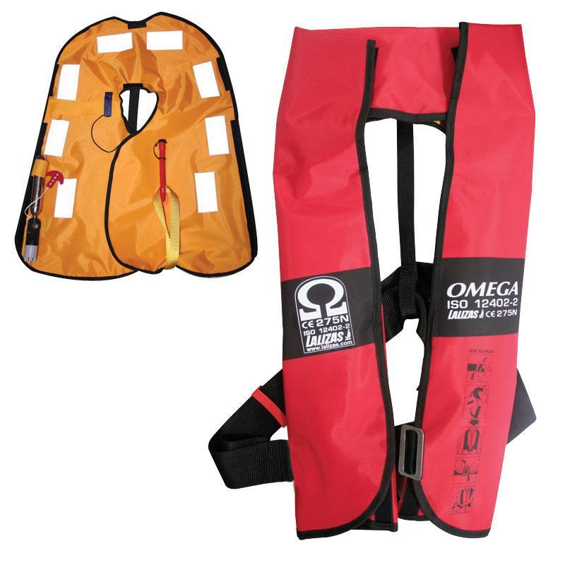 Chaleco Salvavidas Hinchable Omega 275N, CE ISO 12402-2